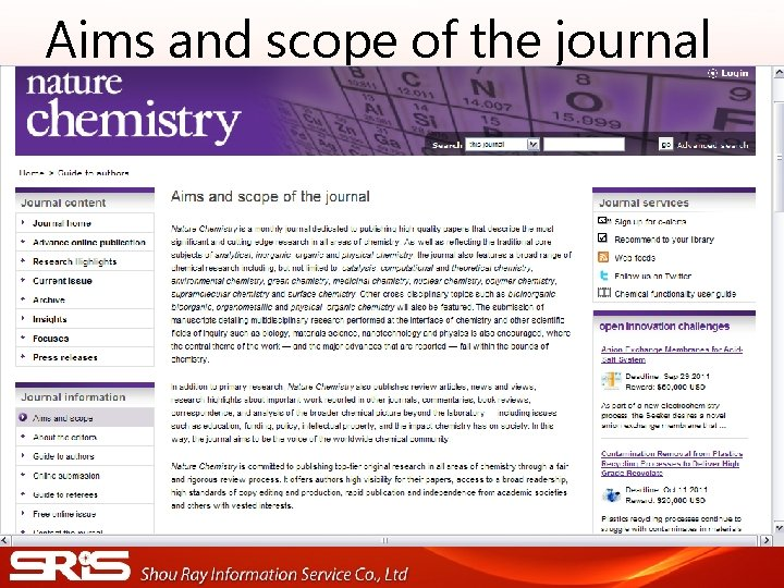 Aims and scope of the journal