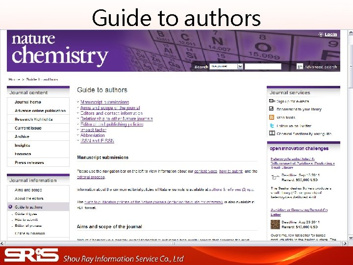Guide to authors