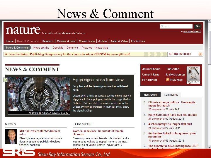 News & Comment