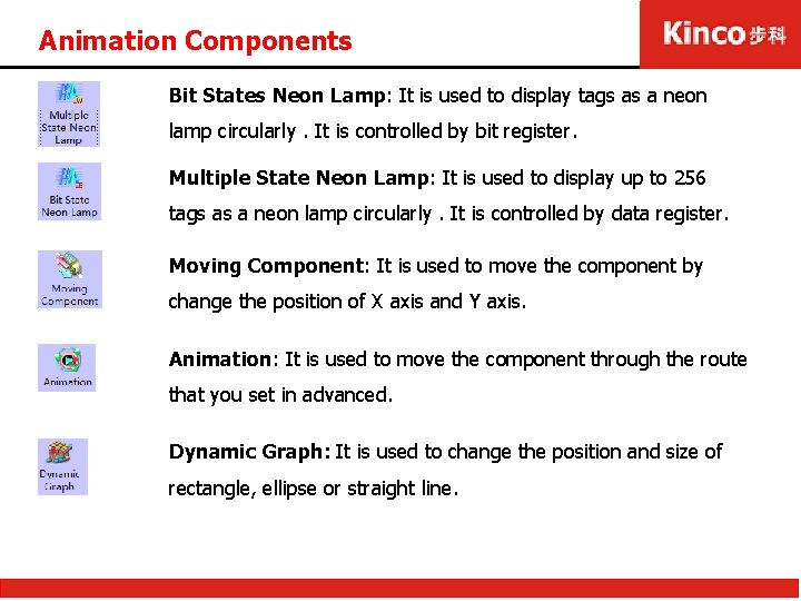 Animation Components Bit States Neon Lamp: It is used to display tags as a