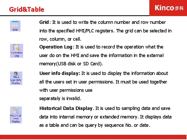 Grid&Table Grid: It is used to write the column number and row number into