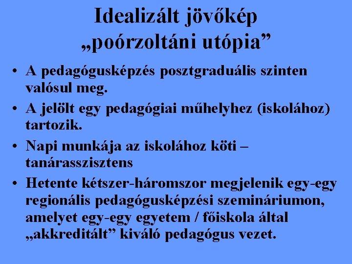 jövőkép a pedagógiában)