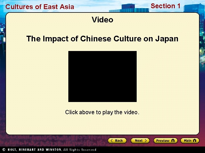 Section 1 Cultures of East Asia Video The Impact of Chinese Culture on Japan
