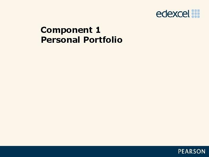 Component 1 Personal Portfolio