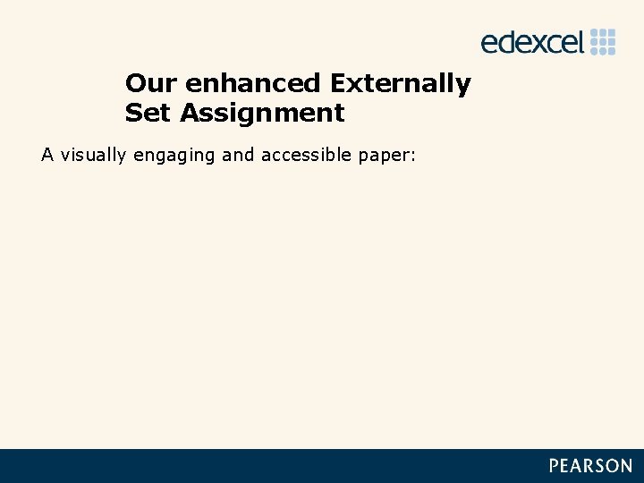 Our enhanced Externally Set Assignment A visually engaging and accessible paper: