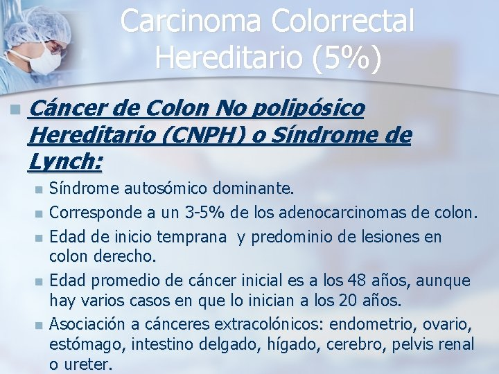 cancer colorectal hereditario