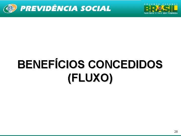 BENEFÍCIOS CONCEDIDOS (FLUXO) 28