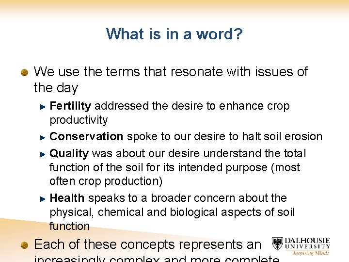 What is in a word? We use the terms that resonate with issues of