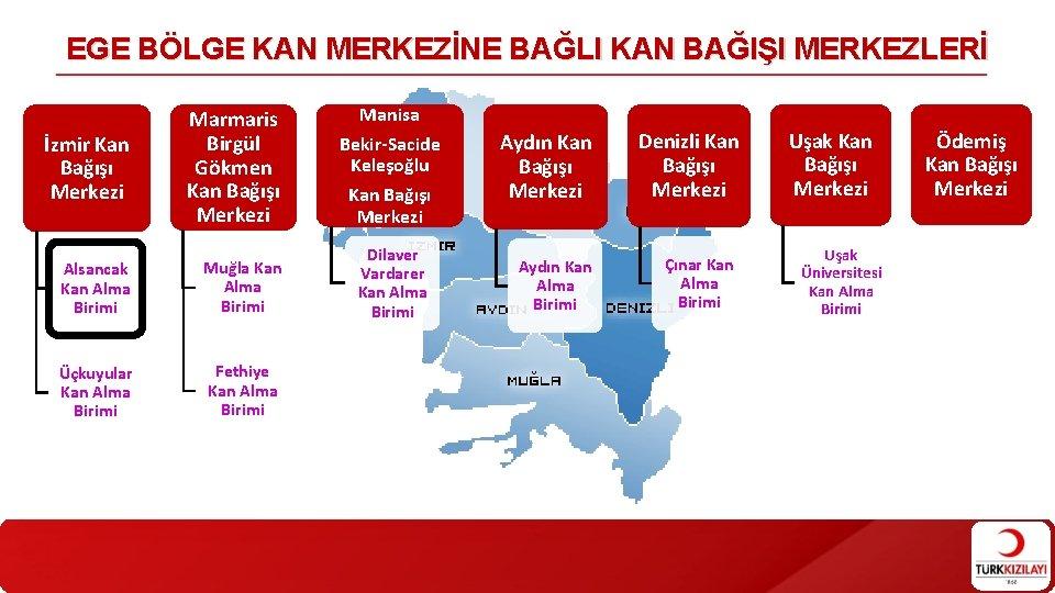 EGE BÖLGE KAN MERKEZİNE BAĞLI KAN BAĞIŞI MERKEZLERİ İzmir Kan Bağışı Merkezi Marmaris Birgül