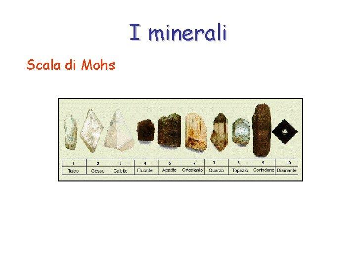 I minerali Scala di Mohs