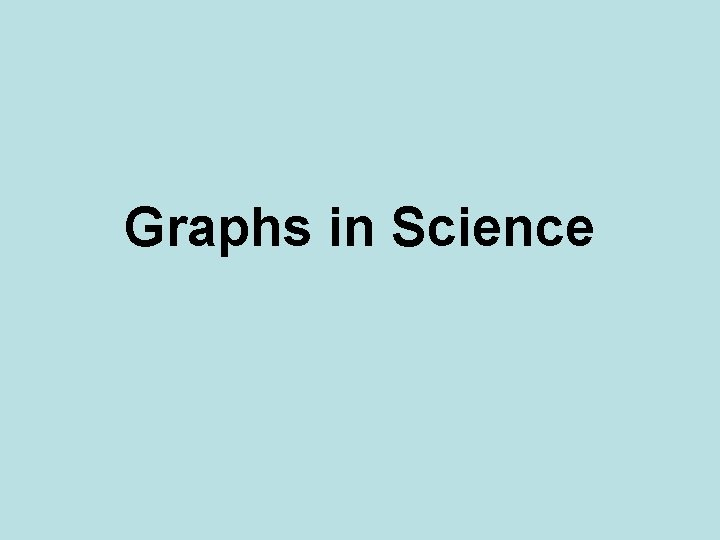Graphs in Science