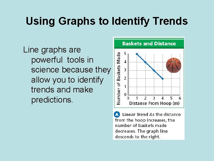 Using Graphs to Identify Trends Line graphs are powerful tools in science because they