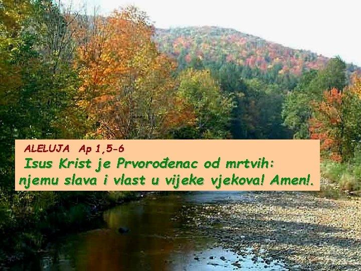 ALELUJA Ap 1, 5 -6 Isus Krist je Prvorođenac od mrtvih: njemu slava i