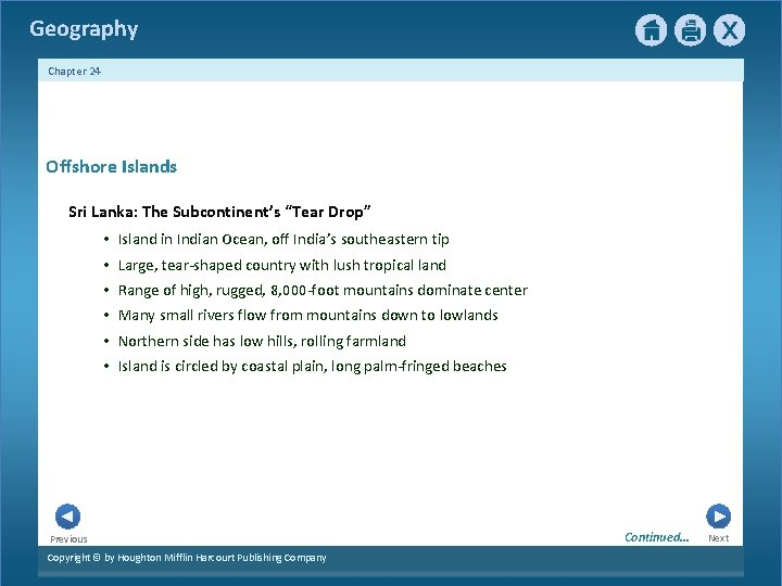 """Geography Chapter 24 Offshore Islands Sri Lanka: The Subcontinent's """"Tear Drop"""" • Island in"""