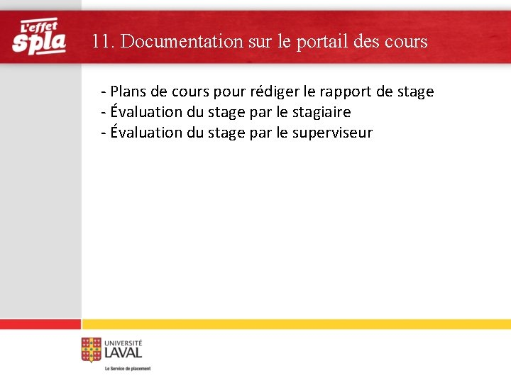11. Documentation sur le portail des cours - Plans de cours pour rédiger le