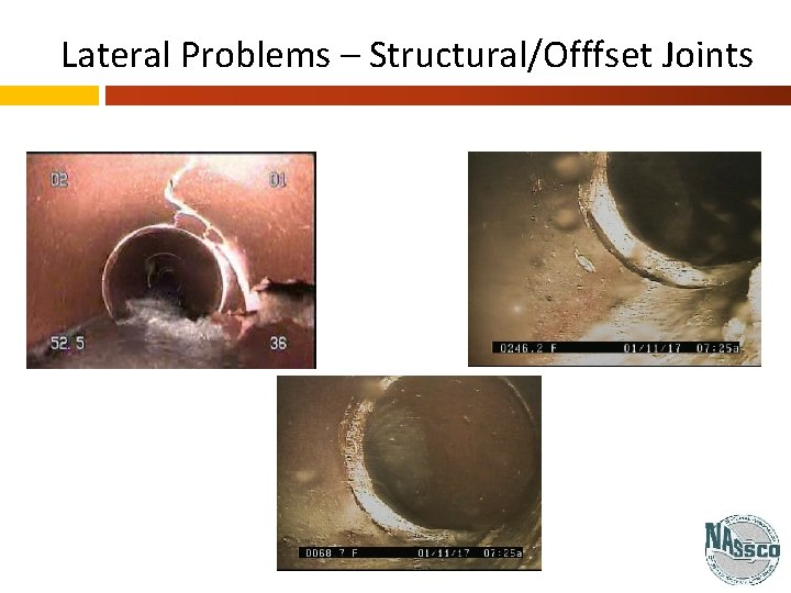 Lateral Problems – Structural/Offfset Joints