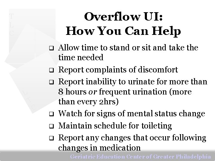 Overflow UI: How You Can Help T L C q q q L T