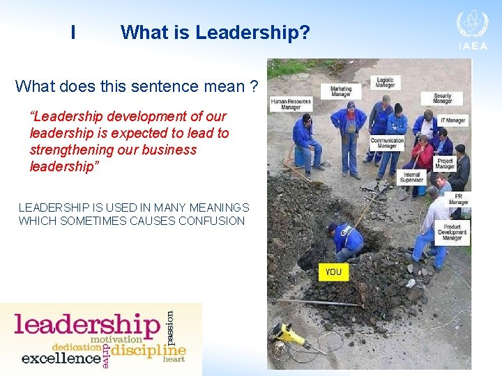 """I What is Leadership? What does this sentence mean ? """"Leadership development of our"""