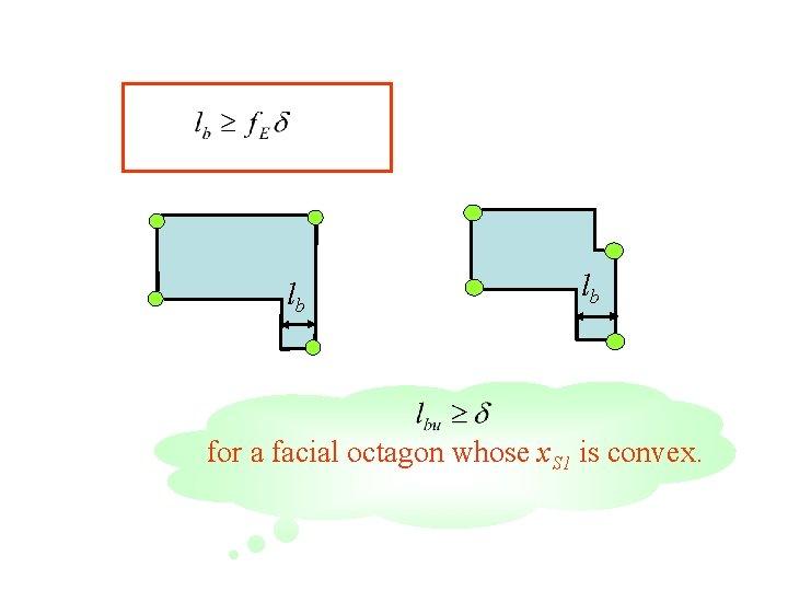 lb lb for a facial octagon whose x. S 1 is convex.
