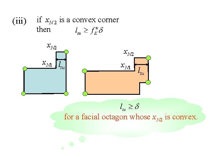 (iii) if x. N 2 is a convex corner then x. N 2 x.