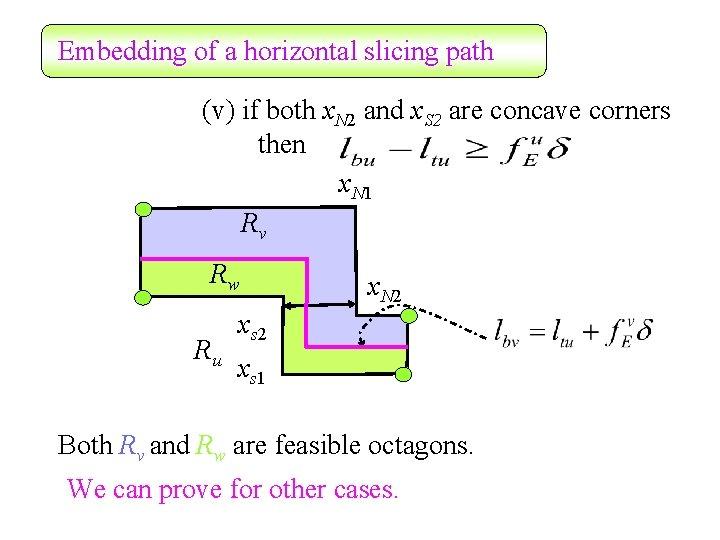 Embedding of a horizontal slicing path (v) if both x. N 2 and x.