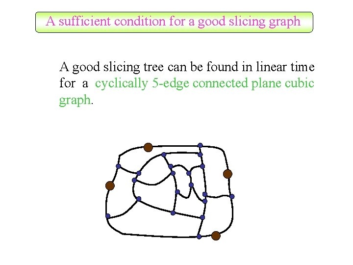 A sufficient condition for a good slicing graph A good slicing tree can be