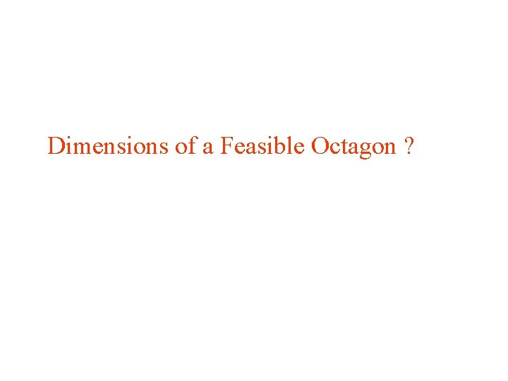Dimensions of a Feasible Octagon ?