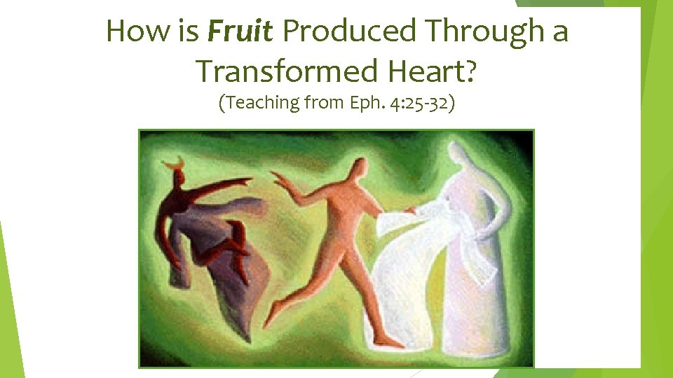 How is Fruit Produced Through a Transformed Heart? (Teaching from Eph. 4: 25 -32)