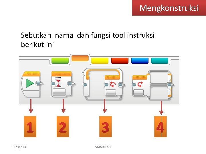 Mengkonstruksi Sebutkan nama dan fungsi tool instruksi berikut ini 1 11/3/2020 2 3 SMARTLAB