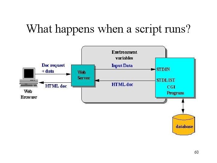 What happens when a script runs? 60