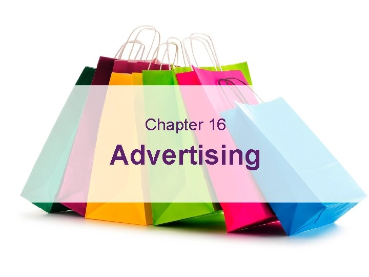Advertising Learning Outcomes Chapter 16 Advertising 16