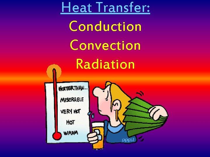 Heat Transfer: Conduction Convection Radiation