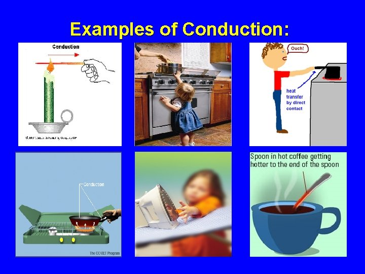 Examples of Conduction: