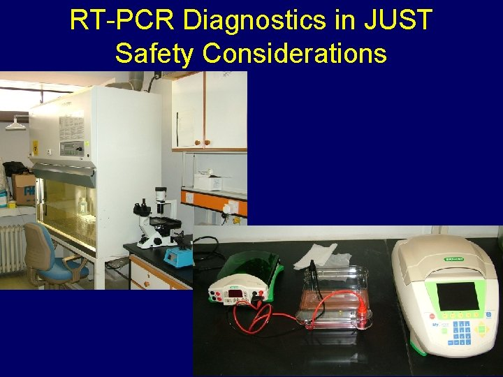 RT-PCR Diagnostics in JUST Safety Considerations