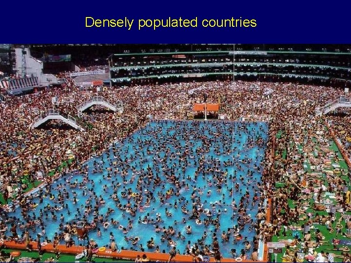 Densely populated countries
