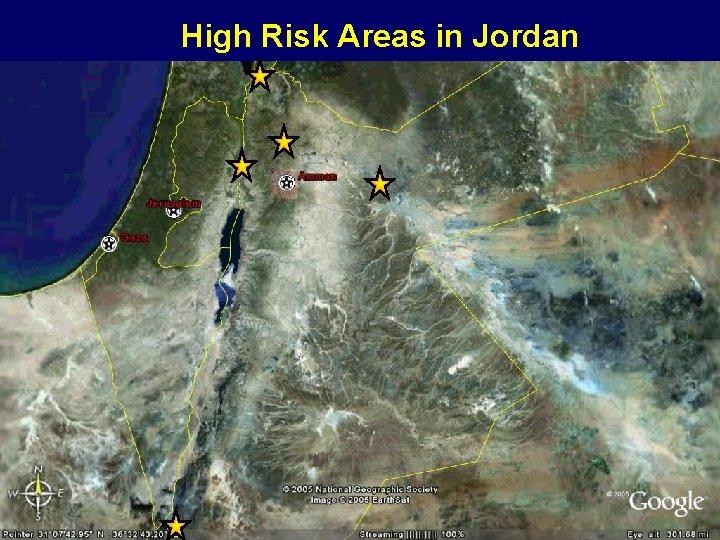 High Risk Areas in Jordan
