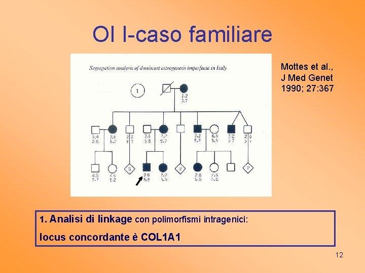 OI I-caso familiare Mottes et al. , J Med Genet 1990; 27: 367 1.
