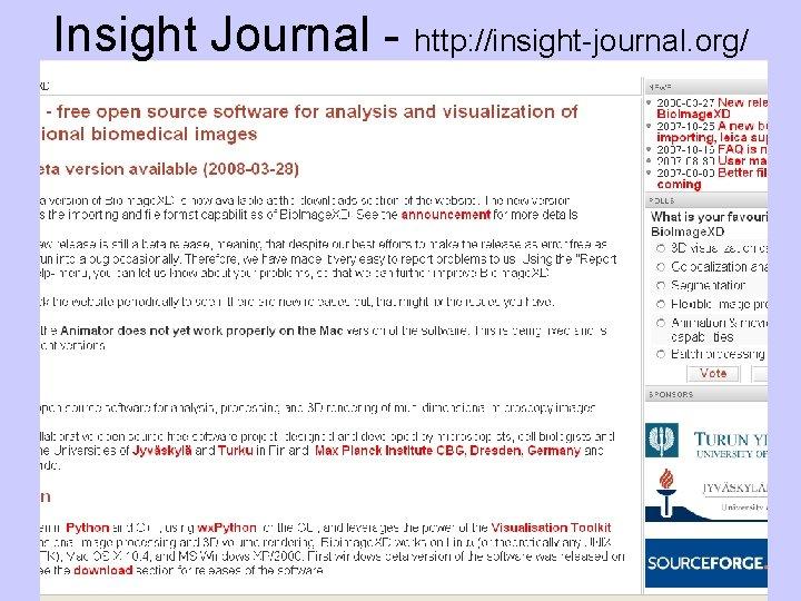 Insight Journal - http: //insight-journal. org/