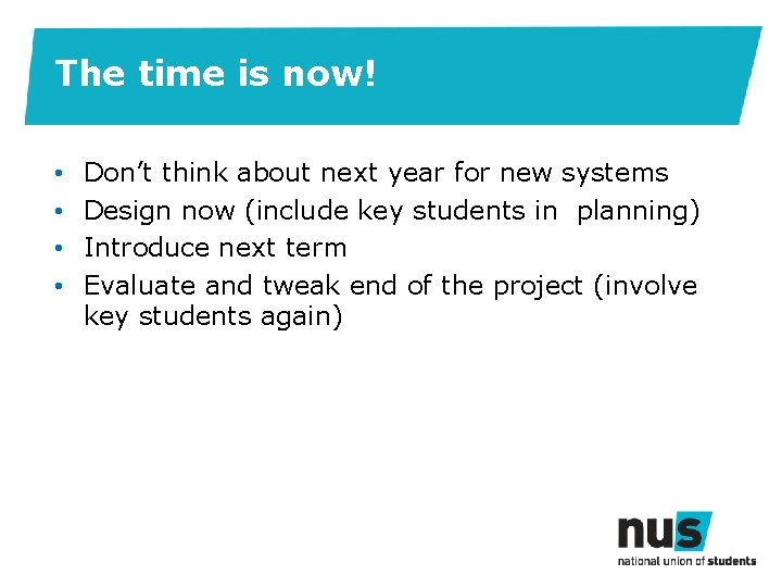 The time is now! • • Don't think about next year for new systems