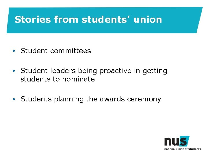 Stories from students' union • Student committees • Student leaders being proactive in getting