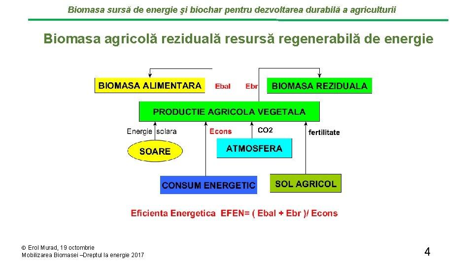 Biomasa sursă de energie şi biochar pentru dezvoltarea durabilă a agriculturii Biomasa agricolă reziduală