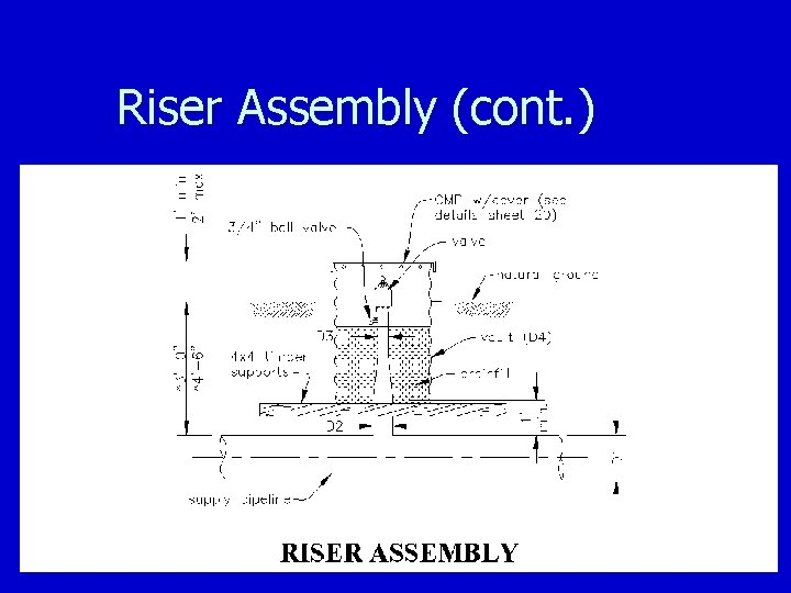 Riser Assembly (cont. )