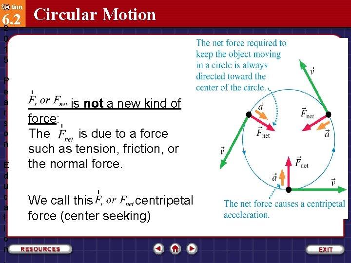 Section © Circular Motion 6. 2 2 0 1 5 P e a r