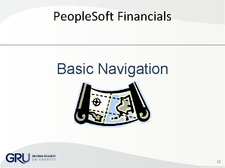 People. Soft Financials Basic Navigation 11