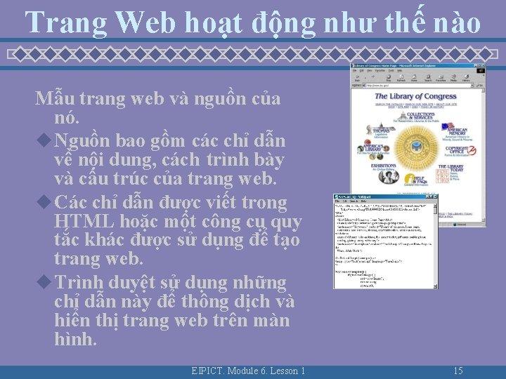 Trang Web hoạt động như thế nào Mẫu trang web và nguồn của nó.