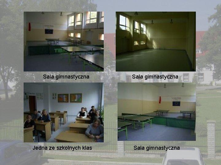 Sala gimnastyczna Jedna ze szkolnych klas Sala gimnastyczna