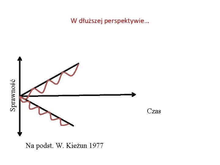 Sprawność W dłuższej perspektywie… Czas Na podst. W. Kieżun 1977