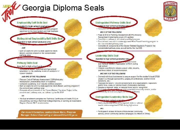 Georgia Diploma Seals