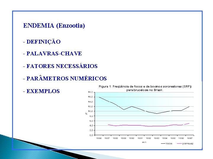 ENDEMIA (Enzootia) - DEFINIÇÃO - PALAVRAS-CHAVE - FATORES NECESSÁRIOS - PAR METROS NUMÉRICOS -