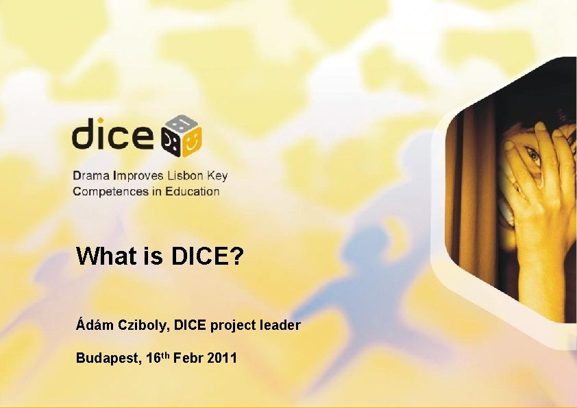 What is DICE? Ádám Cziboly, DICE project leader Budapest, 16 th Febr 2011